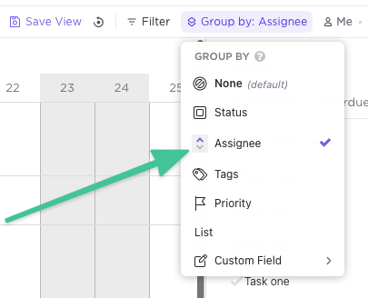 Group by assignee in Timeline and Workload views