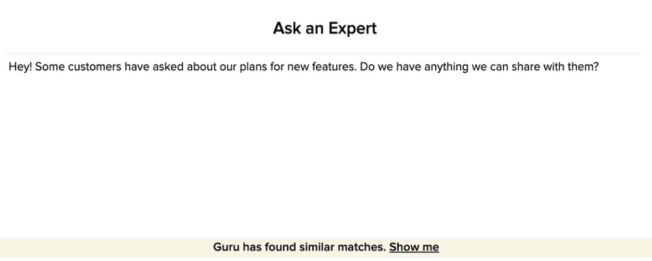 ask an expert - asking a question.