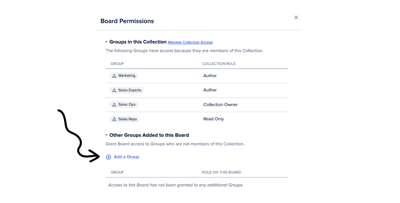Add a Group for a Board Permission