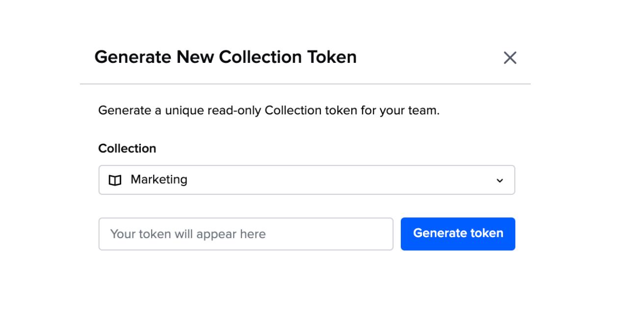 Guru API Generate Collection Token