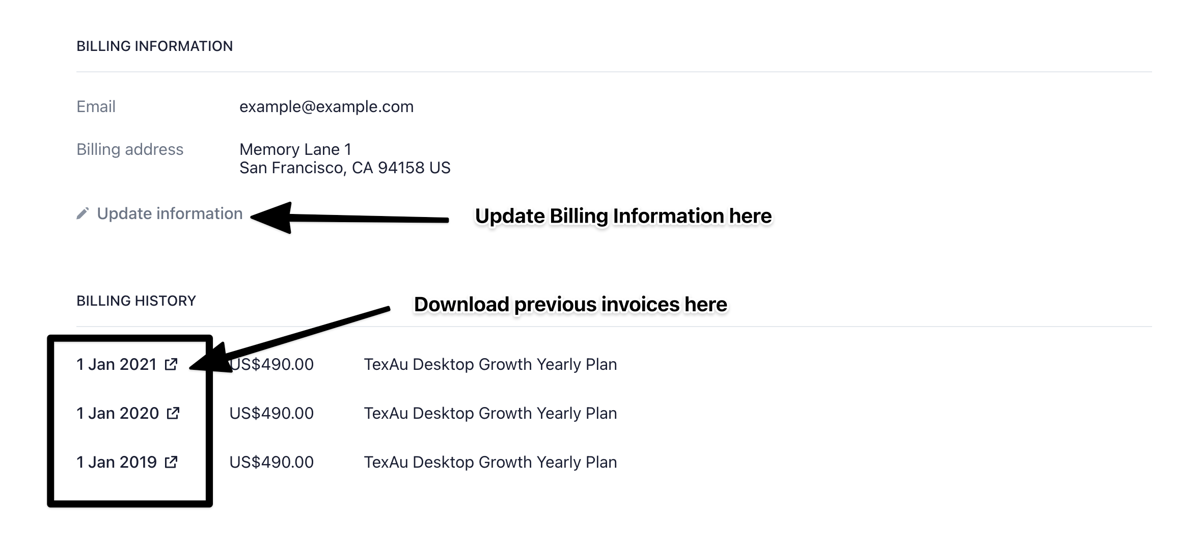 Download Invoices TexAu