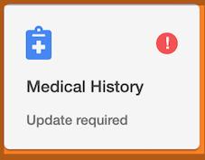 Dentally Patient Portal Medical History alert