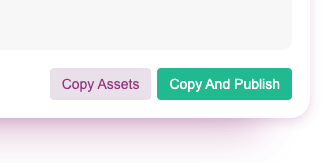 Copying and Publishing Assets in Courier
