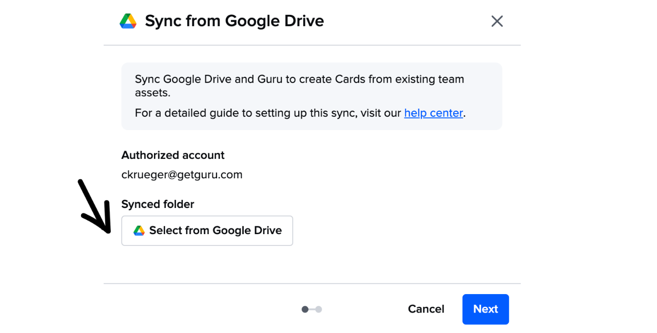 Guru Google Sync Set Up.