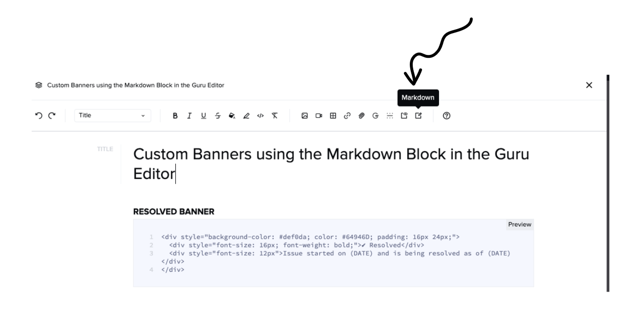Adding Markdown to a Card