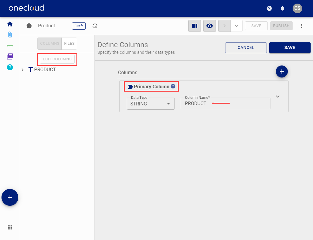 Modify Mapping Group default column definition
