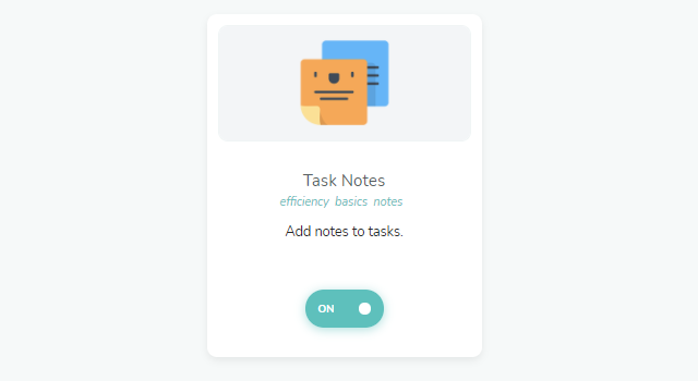 Task Notes strategy