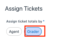 assign tickets to grader