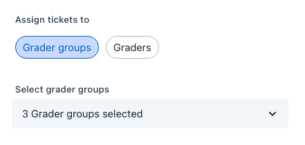 assign tickets to grader groups