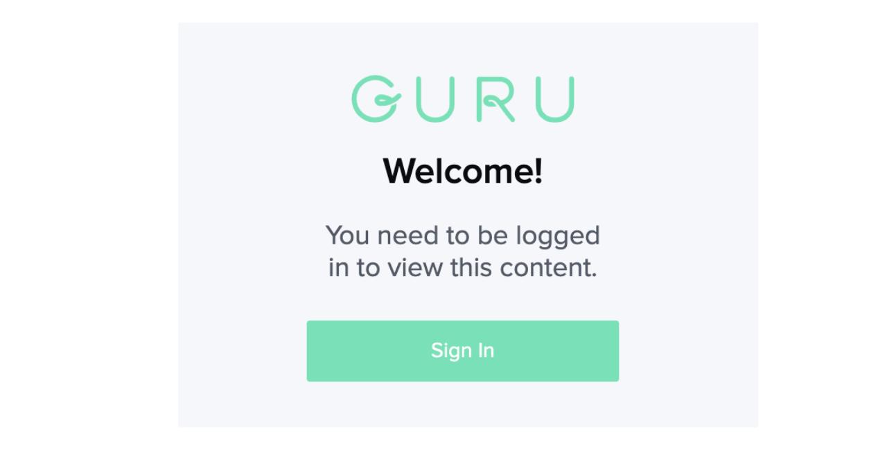 Embedded Guru Card view