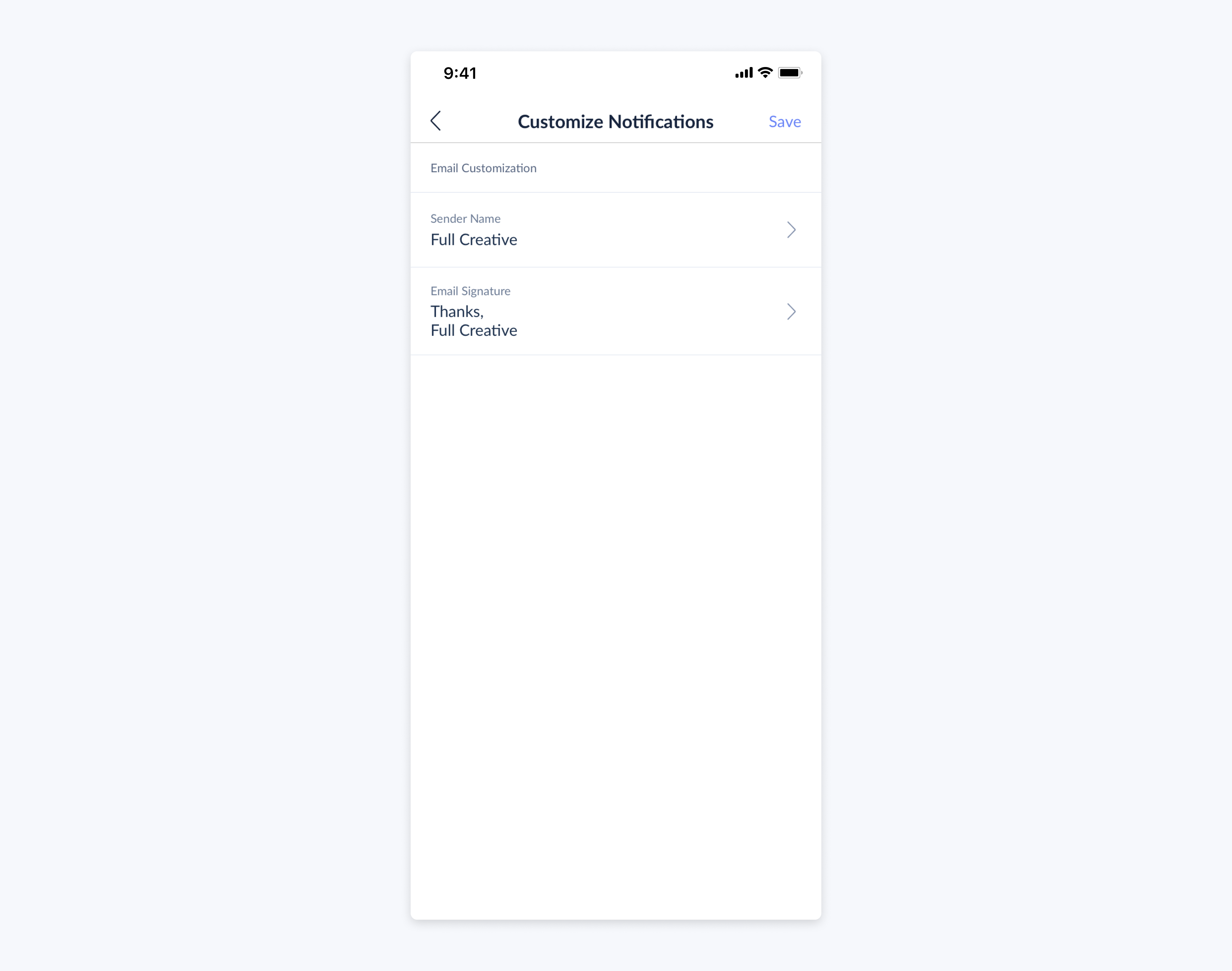 setmore mobile app customize notifications for customer