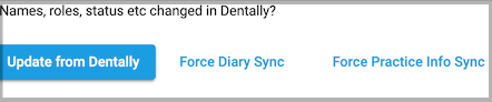 Dentally Patient Portal management - sync practitioner diaries with Dentally