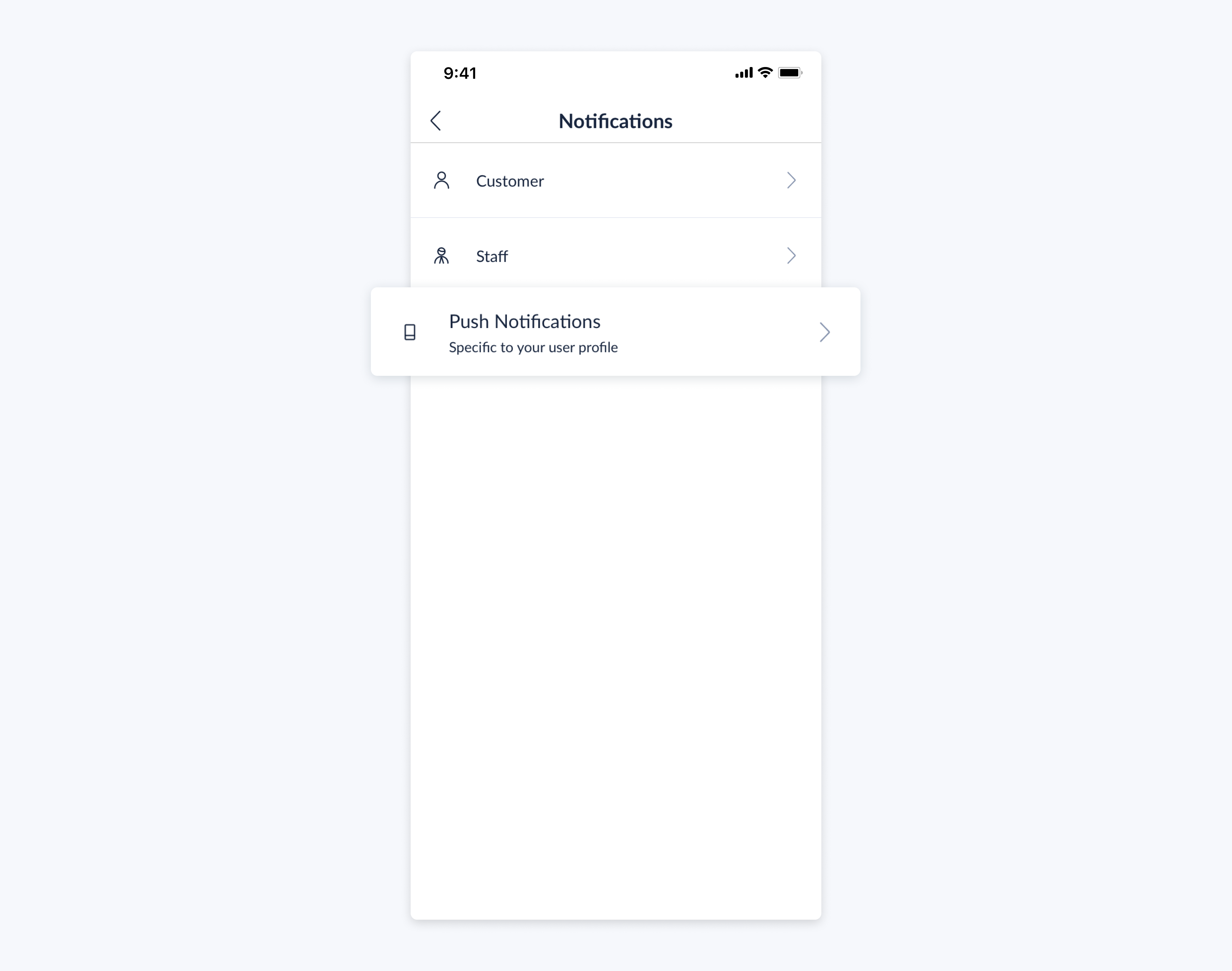 setmore mobile app push notifications