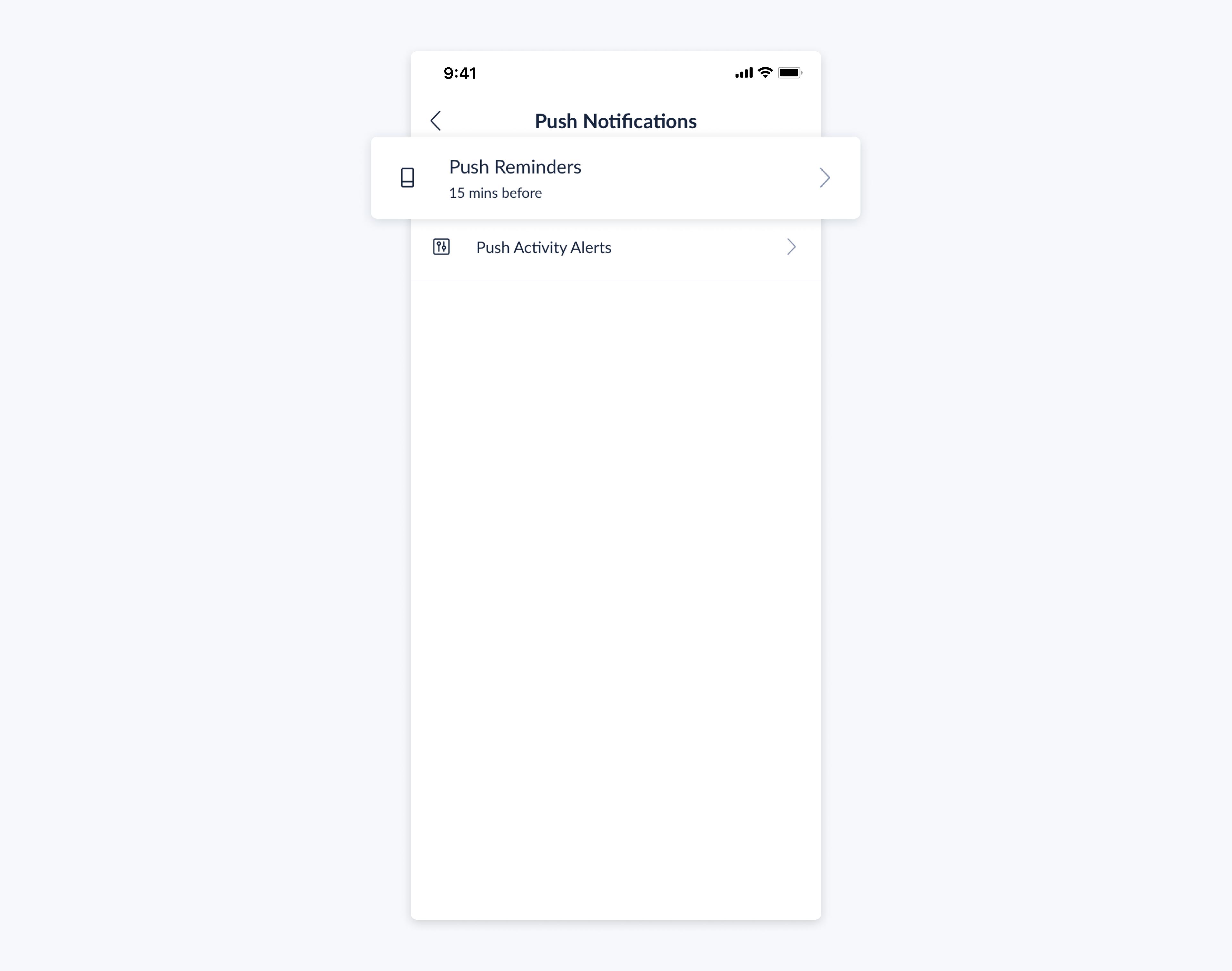 setmore mobile app push reminders