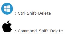 press ctrl shift delete on windowsOS or command shift delete on macOS