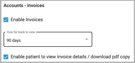 Dentally Patient Portal - Features - Accounts invoices