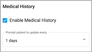 Dentally Patient Portal - Features - Enable Medical History