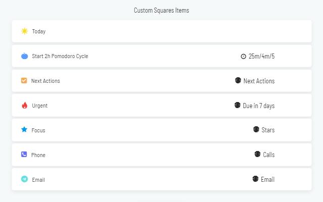Custom Squares strategy settings