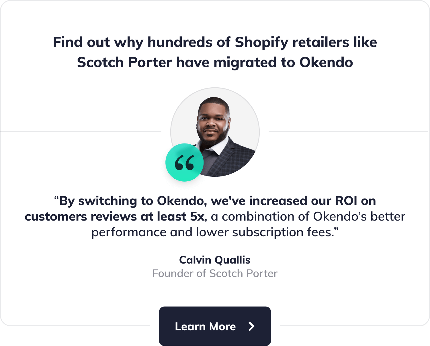 Find out why hundreds of high-performance Shopify retailers like Scotch Porter have migrated to Okendo.