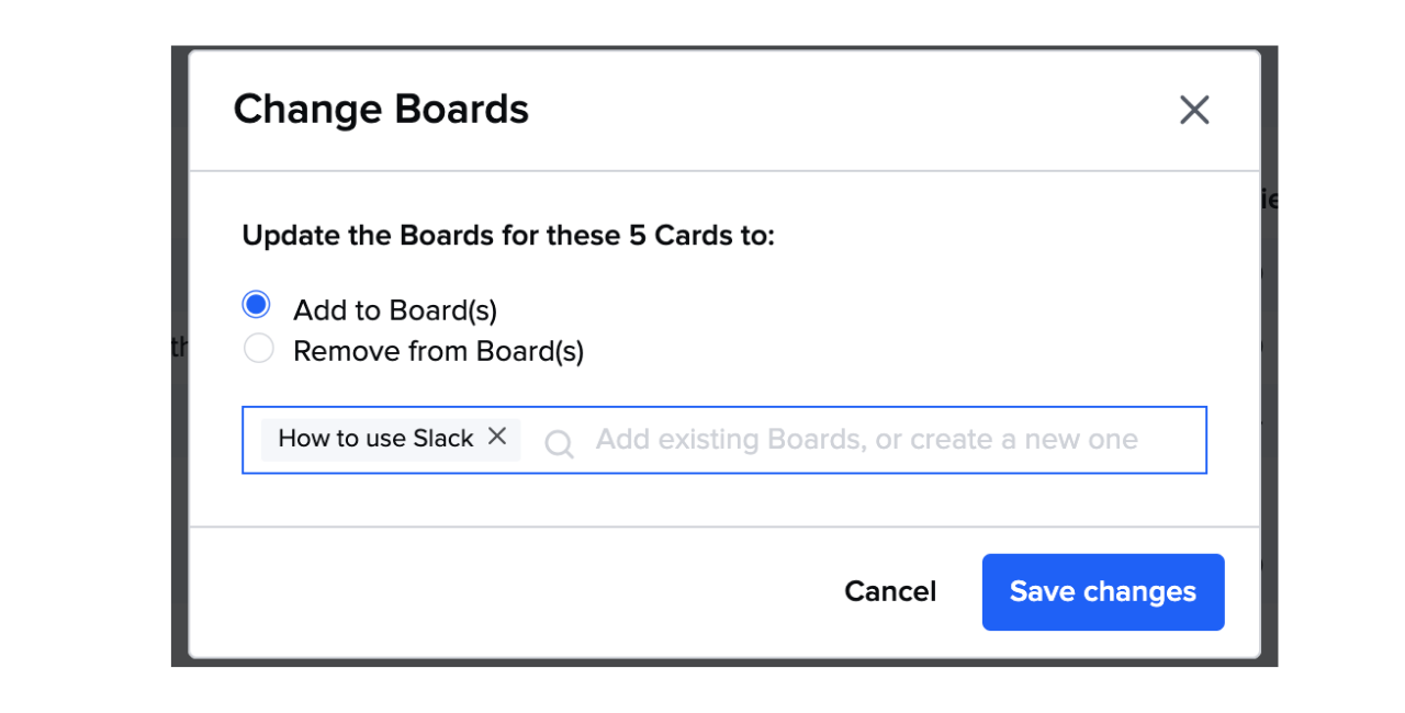 Bulk add Cards to Boards
