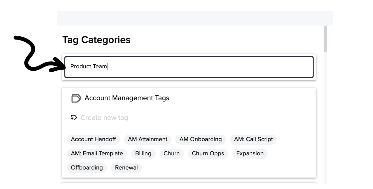 Create a tag category