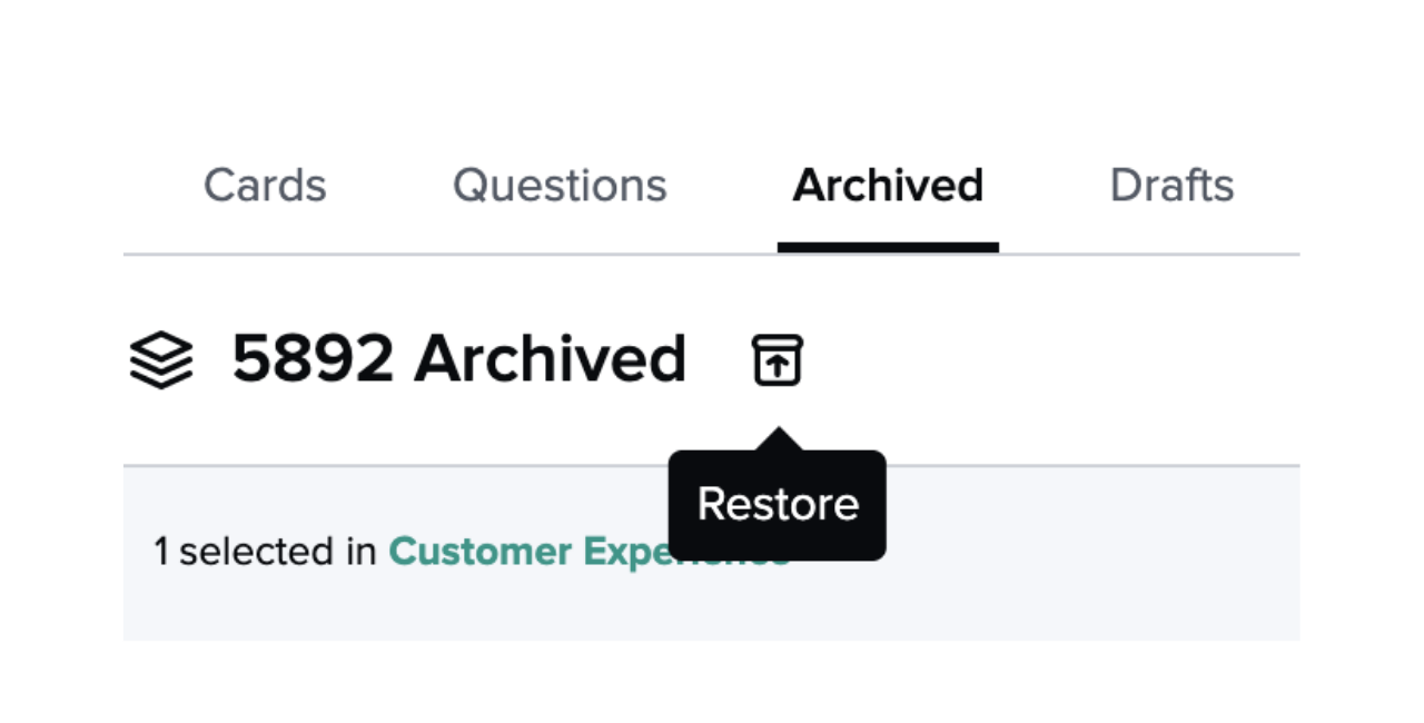 Restore archived Card