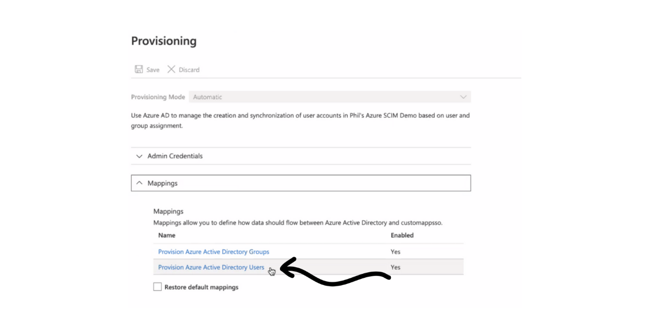 Setting up SCIM for Azure Provisioning