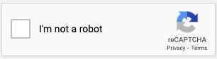 I'm not a robot checkbox