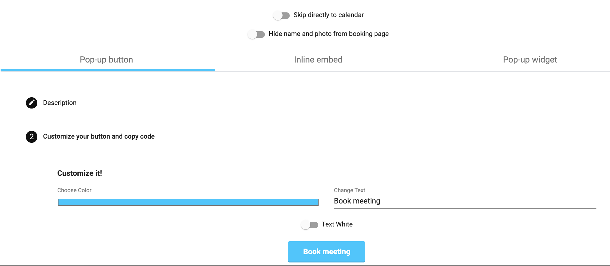 Add MeetFox to Shopify - booking button