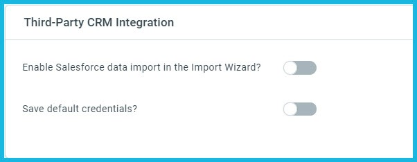 Third-Party CRM Integration