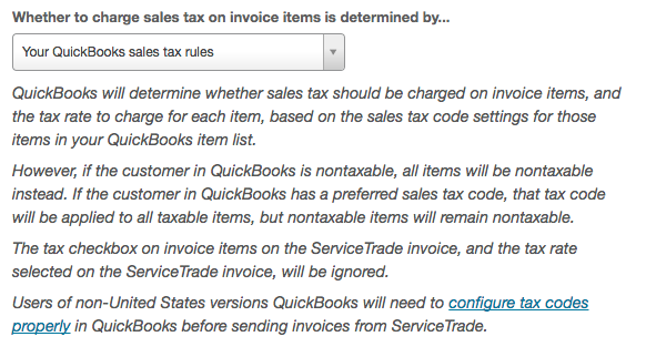 Quickbooks Sync Settings And Data Mapping ServiceTrade Help Center - Quickbooks invoice memo field