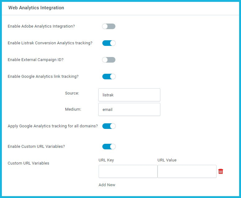 Web Analytics Integration