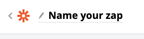 image from zapier website- asking the user to