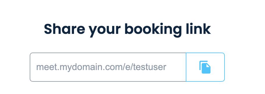 CNAME MeetFox booking link