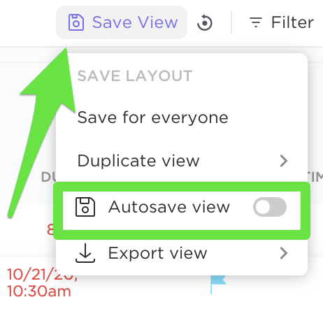 Autosave changes made in your view