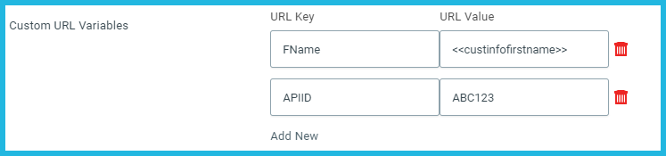Custom URL Variables