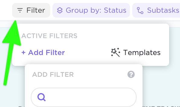 Filter for specific tasks in List view