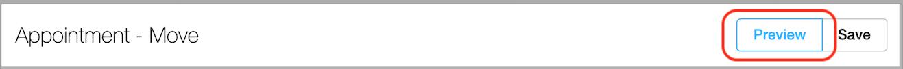 Dentally correspondence template - Preview button