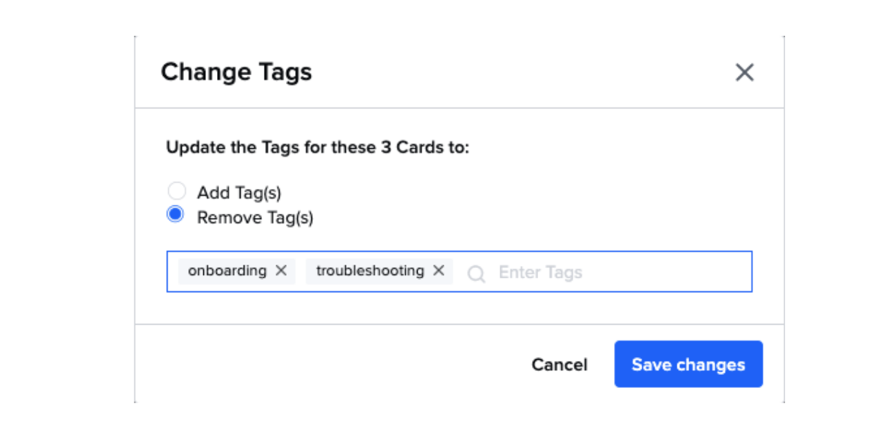 Mass remove tags from Cards