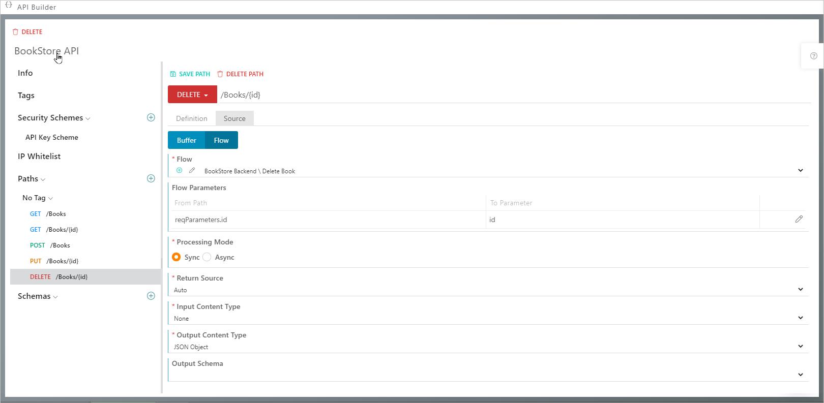 Synatic - API Paths tab
