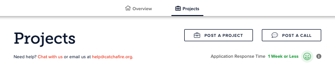 Project Dashboard and Application Response Time