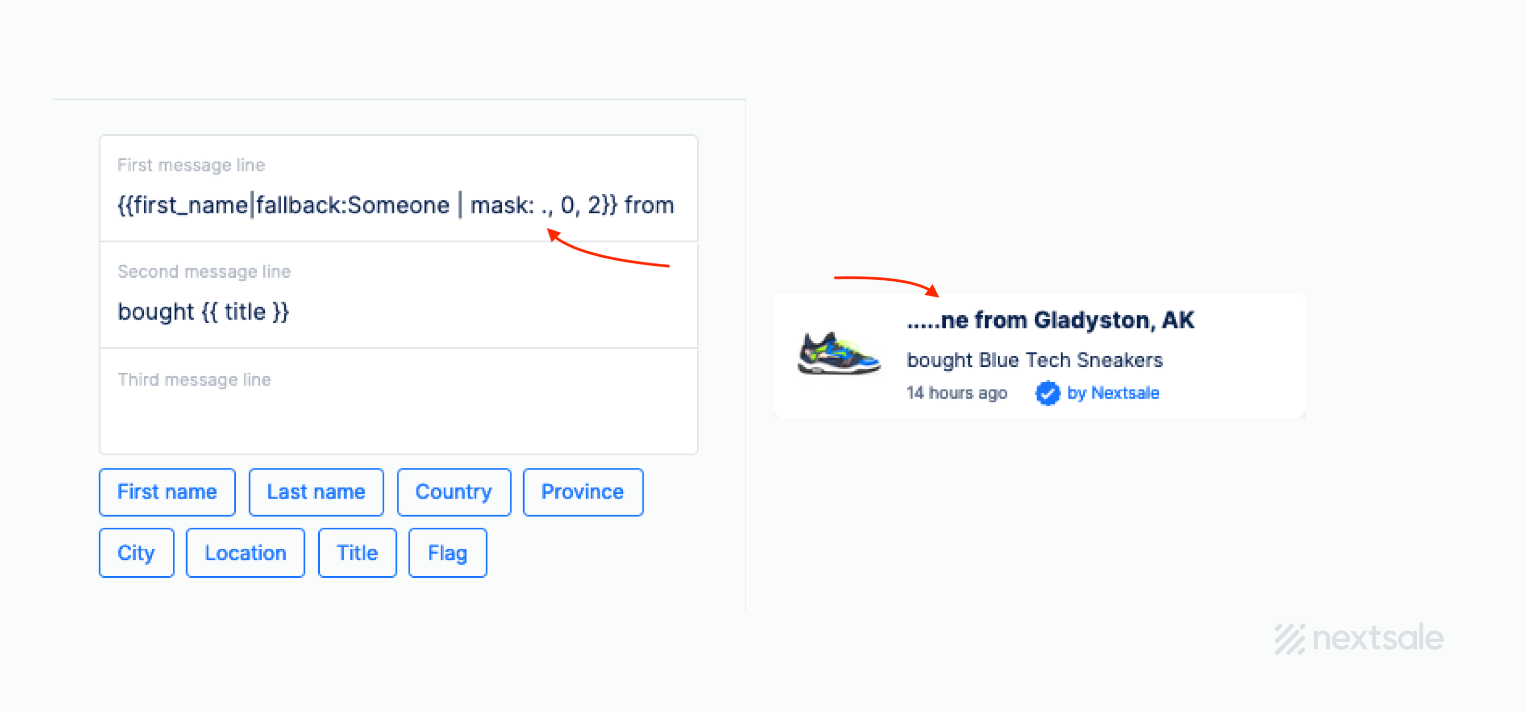 social proof notification customization