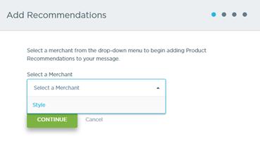 Select a Merchant