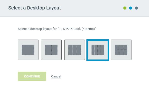 Select a Merchandise Block Desktop Layout