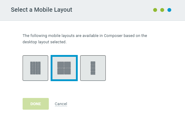 Select a Merchandise Block Mobile Layout
