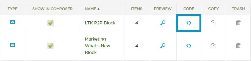Generate Merchandise Block Code