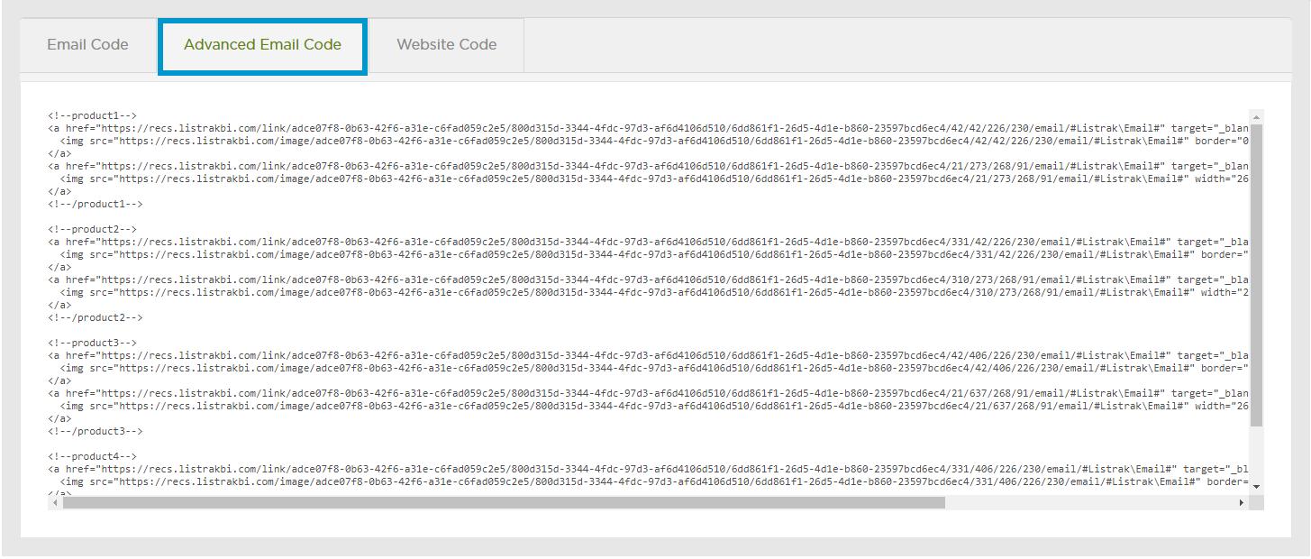 Advanced Email Code for Merchandise Blocks