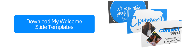 Welcome Slide Templates