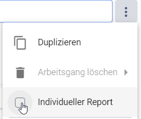 Select a step for an Individual Report