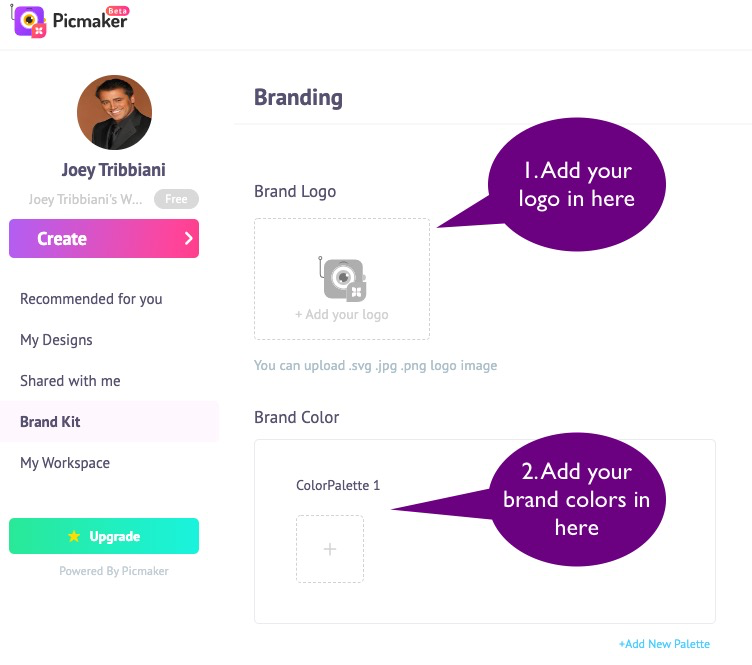How-do-I-use-the-brand-kit-in-Picmaker-2